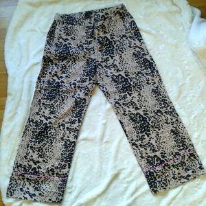 NWT J.Crew leopard print women's size 8 pants
